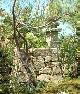 【石積み】福井県敦賀産の疋田石を使用。古色蒼然とした雰囲気。