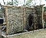 【小舞垣】壁を塗るときに下地とする、方眼に組んだ細い竹を生かした現代的センスの竹垣