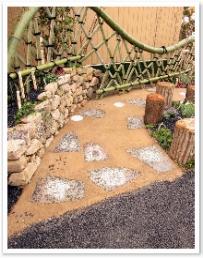 仮設住宅の庭(若林区)