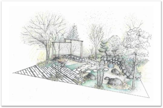庭づくり塾 完成イメージ